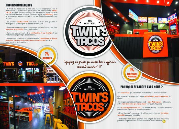 Opportunité d'affaire Twin's Tacos Maroc