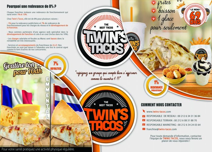 Opportunité de business Twin's Tacos Maroc